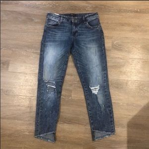 STS Blue• Taylor Tomboy Distressed & Cropped Jean